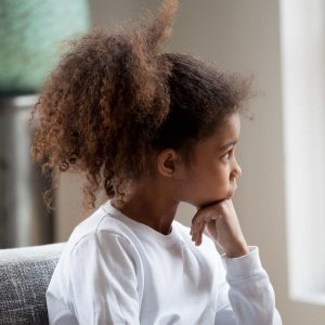 a young child suffering from anxiety