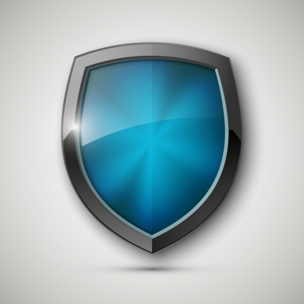 Blue shield to signify Designated Safeguarding Lead importance