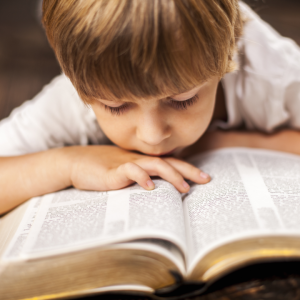 a young child reading a book to signify the importance of HSR